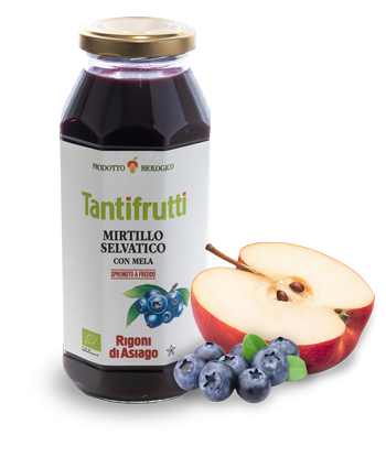 Wild blueberries with apple